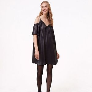 NWT Shimmer Cold Shoulder Cami Swing Dress